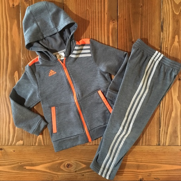 b4c5d5e81 adidas Shirts & Tops | Boys Sweatsuit Hoodie Sweatshirt And Pants ...